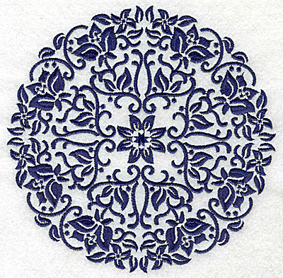 Embroidery Design: Fancy Circle H large 6.50w X 6.50h