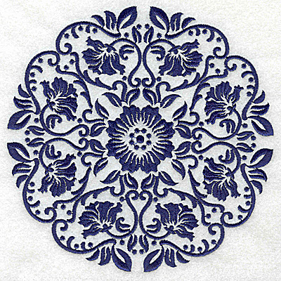 Embroidery Design: Fancy Circle I large 6.53w X 6.53h