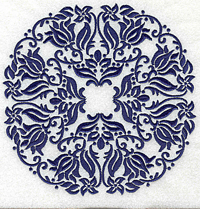 Embroidery Design: Fancy Circle J large 6.51w X 6.51h