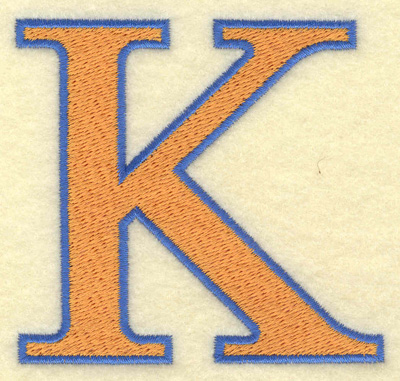Embroidery Design: Kappa large 3.22w X 3.03h