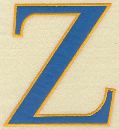 Embroidery Design: Zeta large applique 5.97w X 6.50h