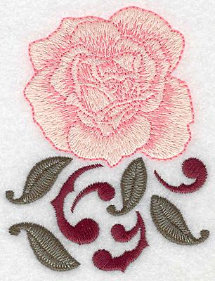 Embroidery Design: Single rose 2.95w X 3.85h
