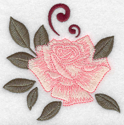Embroidery Design: Rose  3.86w X 3.88h