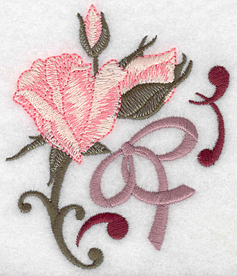 Embroidery Design: Rose and buds small 3.24w X 3.87h