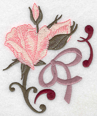 Embroidery Design: Rose and buds large 4.18w X 4.99h
