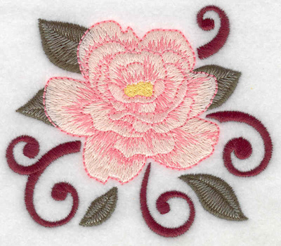 Embroidery Design: Rose open 3.86w X 3.34h