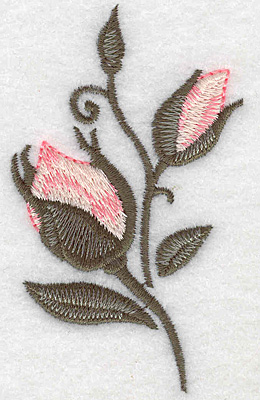 Embroidery Design: Rose buds 2.06w X 3.45h