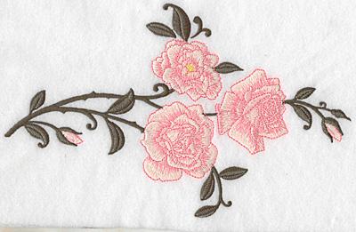 Embroidery Design: Rose trio 10.22w X 6.30h