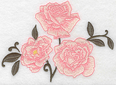 Embroidery Design: Roses three6.79w X 4.99h