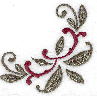 Embroidery Design: Swirls and leaves  3.12w X 3.12h
