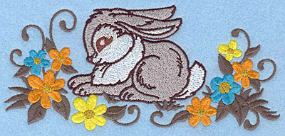 Embroidery Design: Bunny sitting large 6.53w X 3.05h