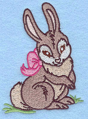 Embroidery Design: Bunny with bow 2.84w X 3.87h