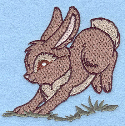 Embroidery Design: Bunny hopping 3.83w X 3.85h
