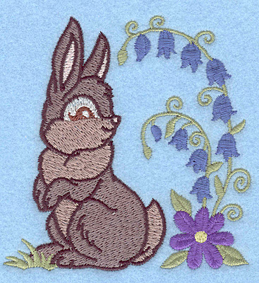 Embroidery Design: Bunny looking back small3.80w X 3.87h