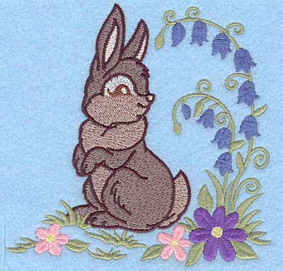 Embroidery Design: Bunny looking back large 4.95w X 4.91h