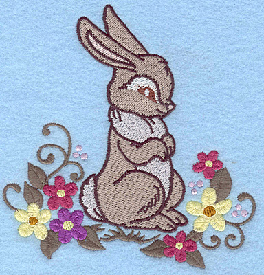 Embroidery Design: Bunny standing large 4.79w X 4.96h
