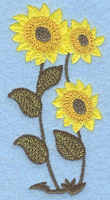 Embroidery Design: Sunflowers 1.94w X 3.88h