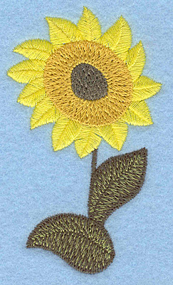 Embroidery Design: Sunflower 2.04w X 3.54h