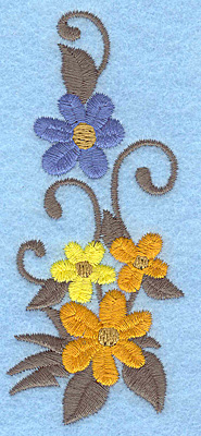Embroidery Design: Flowers C 1.69w X 3.90h
