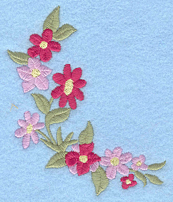Embroidery Design: Flowers D 3.17w X 3.79h