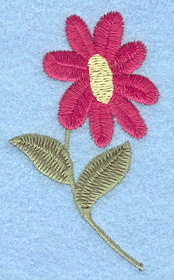 Embroidery Design: Single Flower 1.80w X 3.09h