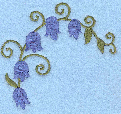 Embroidery Design: Bluebells 3.01w X 2.81h
