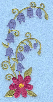 Embroidery Design: Flowers I 1.90w X 3.89h
