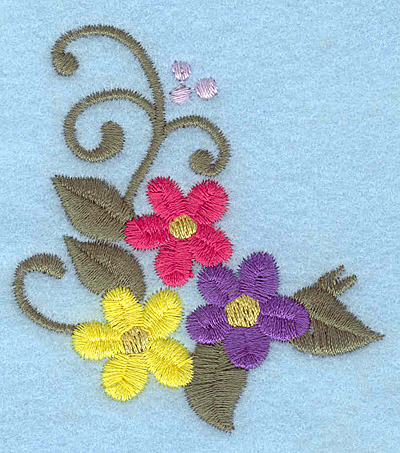 Embroidery Design: Flowers K 2.55w X 2.82h