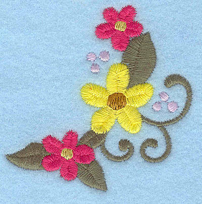 Embroidery Design: Flowers L 2.58w X 2.58h