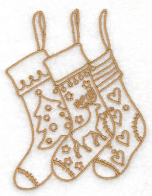 Embroidery Design: Christmas stockings 3.01w X 3.88h