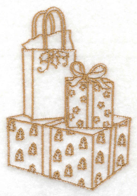 Embroidery Design: Gift boxes and bags 2.63w X 3.85h