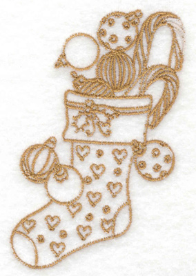 Embroidery Design: Christmas stocking 2.46w X 3.89h