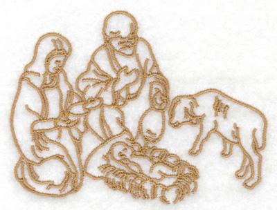 Embroidery Design: Nativity scene 3.86w X 2.91h