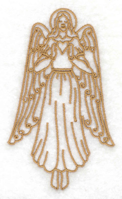 Embroidery Design: Angel 2.31w X 3.88h