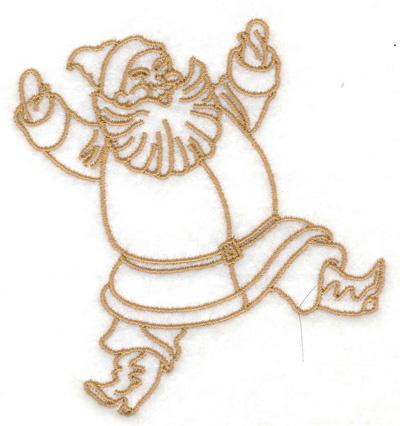 Embroidery Design: Santa 3.56w X 3.83h