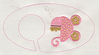 Embroidery Design: Closet dividers girls Baby Carriage 5.40w X 2.91h