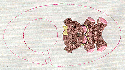 Embroidery Design: Closet dividers girls Teddy Bear 5.40w X 2.91h