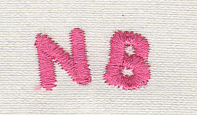 Embroidery Design: Text NB (new born) 4.82w X 0.94h