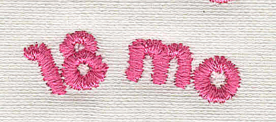Embroidery Design: Text 18 mo 4.55w X 1.42h