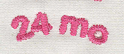 Embroidery Design: Text 24 mo 4.57w X 1.46h