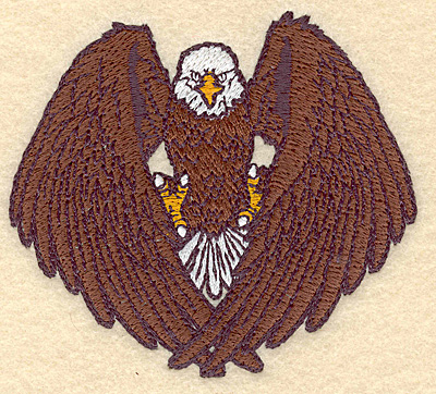 "Embroidery Design: American bald eagle 3.90""w X 3.52""h"