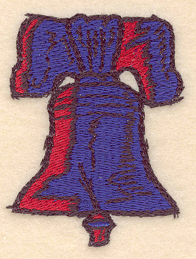 "Embroidery Design: Liberty Bell small 2.33""w X 3.00""h"