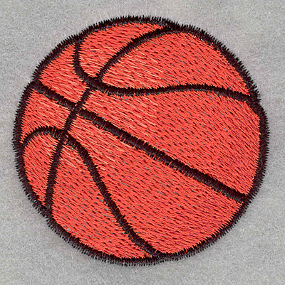 Embroidery Design: Basketball2.31w X 2.26h