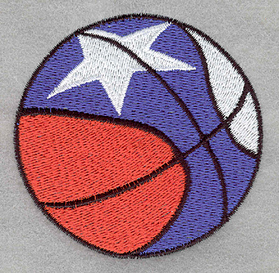 Embroidery Design: Basketball U.S.A.3.06w X 3.00h