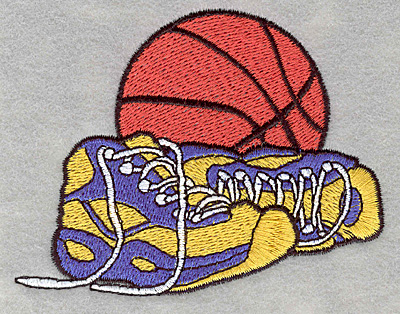 Embroidery Design: Basketball with sneakers3.90w X 3.00h