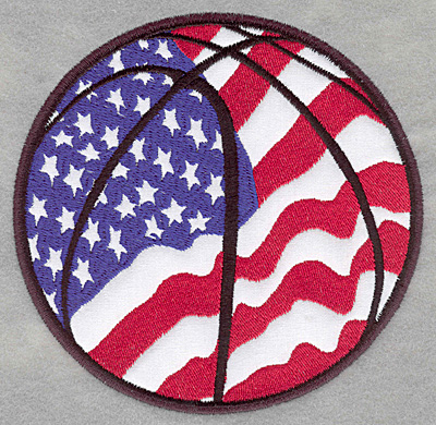Embroidery Design: Americana basketball applique5.08w X 4.98h