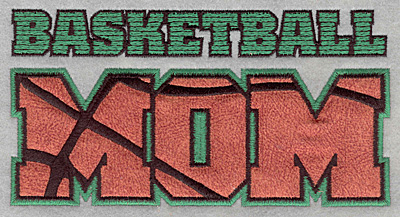 Embroidery Design: Basketball mom applique6.50w X 3.37h