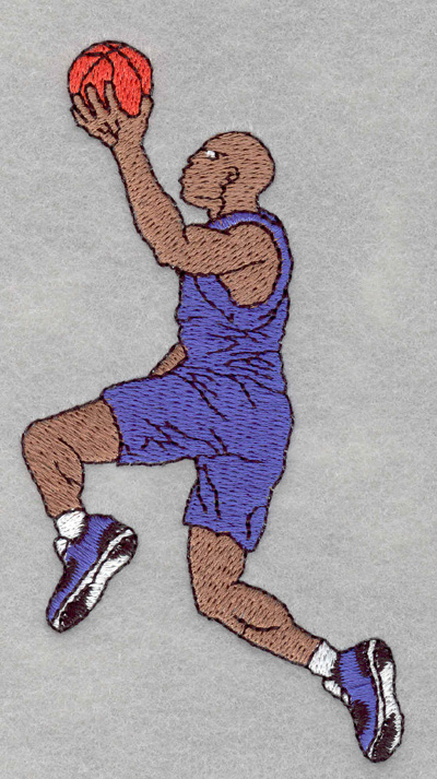 Embroidery Design: Basketball player jump shot2.46w X 4.81h
