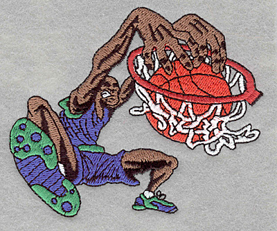 Embroidery Design: Basketball player slam-dunk3.90w X 3.21h