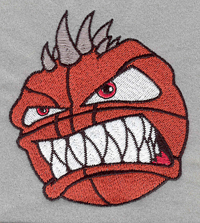 Embroidery Design: Angry basketball3.55w X 3.90h
